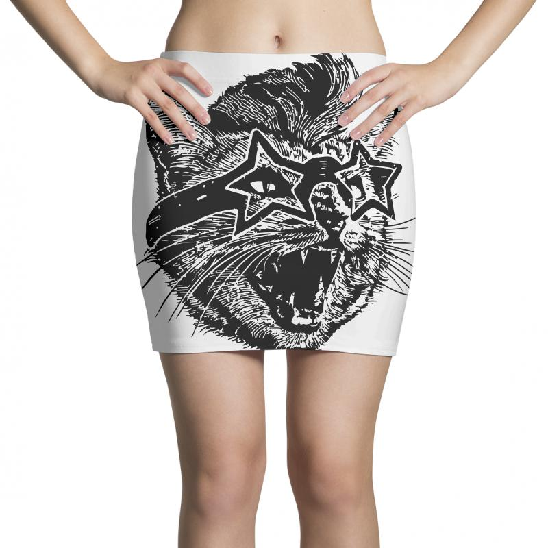 Funky Cat Mini Skirts | Artistshot