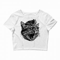 funky cat Crop Top | Artistshot