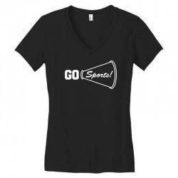 go sports funny Women's V-Neck T-Shirt   Artistshot