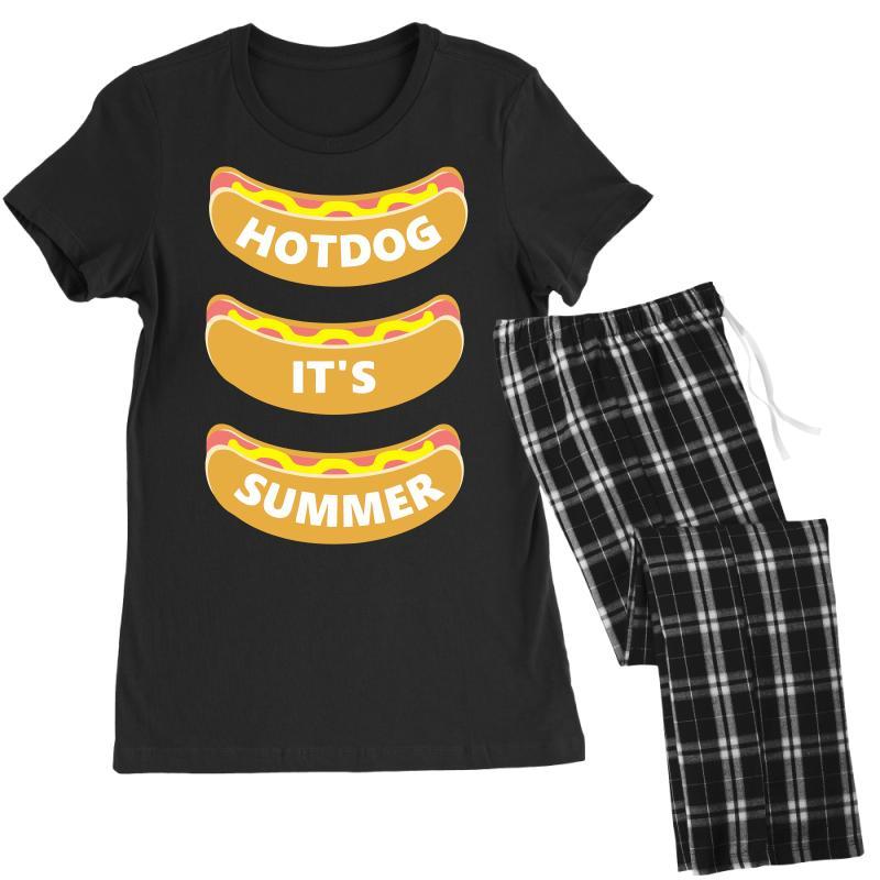 Hot Dog It's Summer Women's Pajamas Set | Artistshot