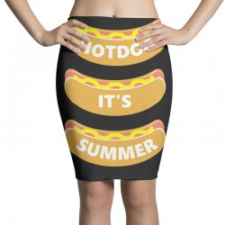 hot dog it's summer Pencil Skirts | Artistshot