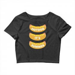 hot dog it's summer Crop Top | Artistshot