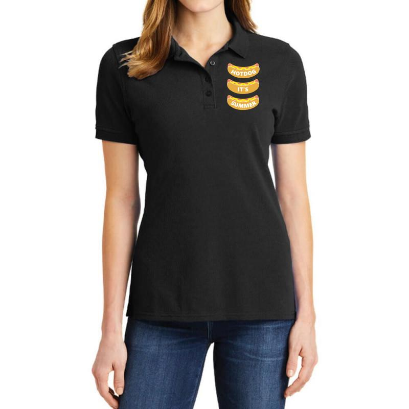 Hot Dog It's Summer Ladies Polo Shirt | Artistshot