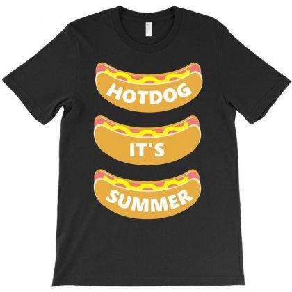 Hot Dog It's Summer T-shirt Designed By Erryshop