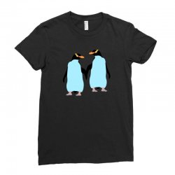 gay penguin couple Ladies Fitted T-Shirt | Artistshot