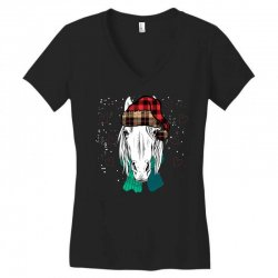horse christmas Women's V-Neck T-Shirt | Artistshot