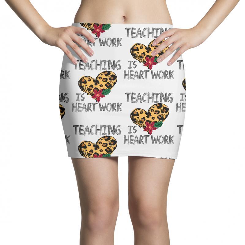 Teaching Is Heart Work For Light Mini Skirts | Artistshot