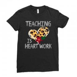 teaching is heart work for dark Ladies Fitted T-Shirt   Artistshot