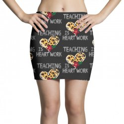 teaching is heart work for dark Mini Skirts   Artistshot