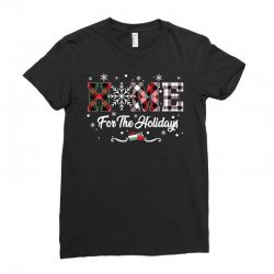 home for the holidays Ladies Fitted T-Shirt | Artistshot
