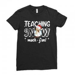 teaching snow munch fun for dark Ladies Fitted T-Shirt | Artistshot