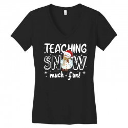 teaching snow munch fun for dark Women's V-Neck T-Shirt | Artistshot