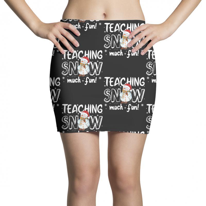 Teaching Snow Munch Fun For Dark Mini Skirts | Artistshot