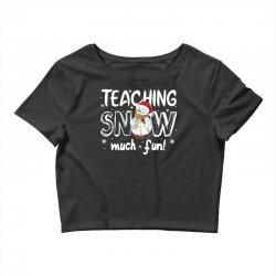 teaching snow munch fun for dark Crop Top | Artistshot