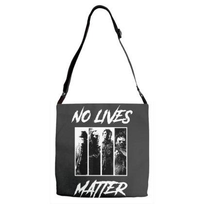 No Lives Matter Adjustable Strap Totes Designed By Tillyjemima Art