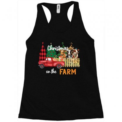 Christmas On The Farm Racerback Tank Designed By Badaudesign