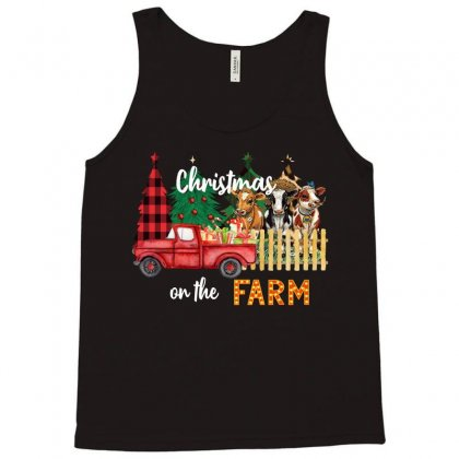 Christmas On The Farm Tank Top Designed By Badaudesign