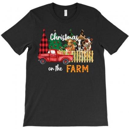 Christmas On The Farm T-shirt Designed By Badaudesign