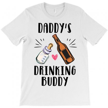 Daddy's Drinking Buddy T-shirt Designed By Badaudesign