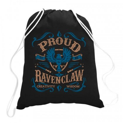 Proud To Be A Ravenclaw Drawstring Bags Designed By Wizarts