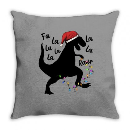 T-rex Holiday For Light Throw Pillow Designed By Sengul