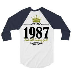 vintage 1987 and still looking good 3/4 Sleeve Shirt | Artistshot