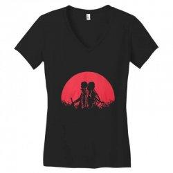 sword art Women's V-Neck T-Shirt   Artistshot
