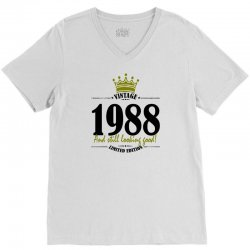 vintage 1988 and still looking good V-Neck Tee | Artistshot