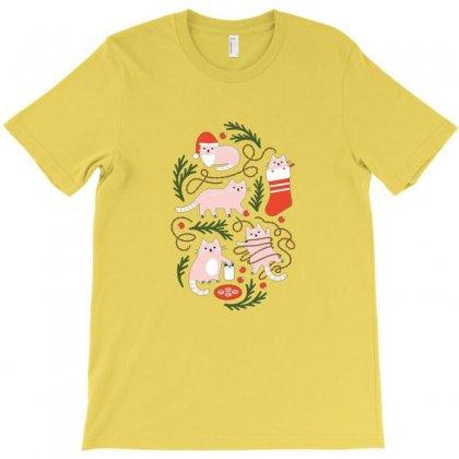 Grumpy Christmas Cat T-shirt Designed By Irawan
