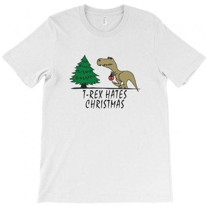 T Rex Hates Christmas T-shirt Designed By Irawan