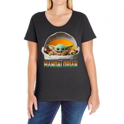 Baby Yoda The Mandalorian Ladies Curvy T-shirt Designed By Fun Tees