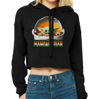 Baby Yoda The Mandalorian Cropped Hoodie Designed By Fun Tees