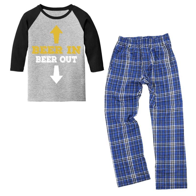 Beer In Beer Out Youth 3/4 Sleeve Pajama Set | Artistshot