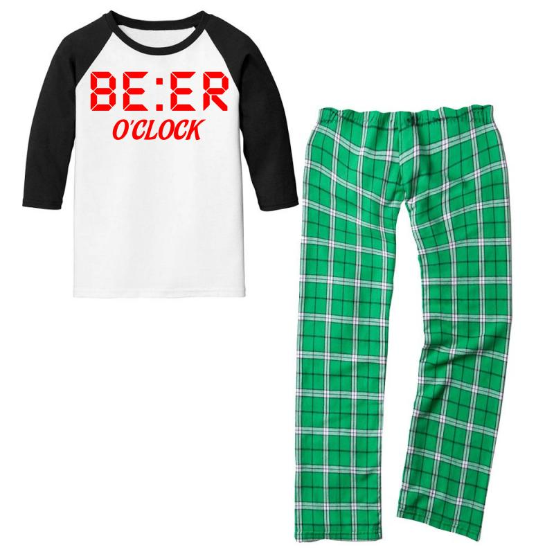 Beer O'clock Youth 3/4 Sleeve Pajama Set | Artistshot