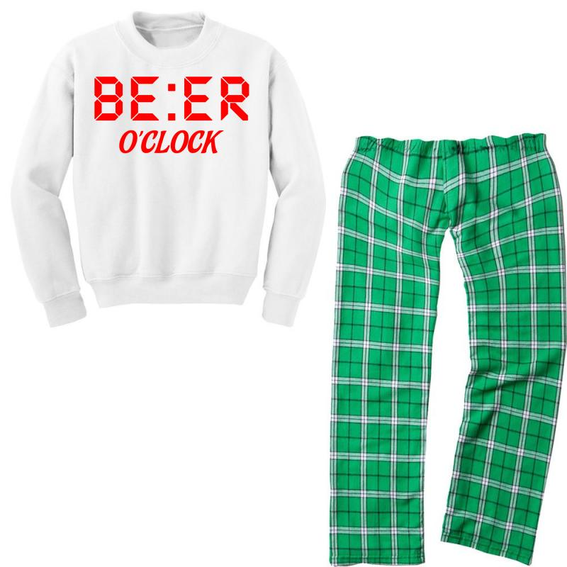 Beer O'clock Youth Sweatshirt Pajama Set | Artistshot