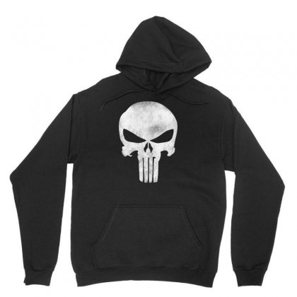 Punisher Skull Vintage Unisex Hoodie Designed By Dejavu77