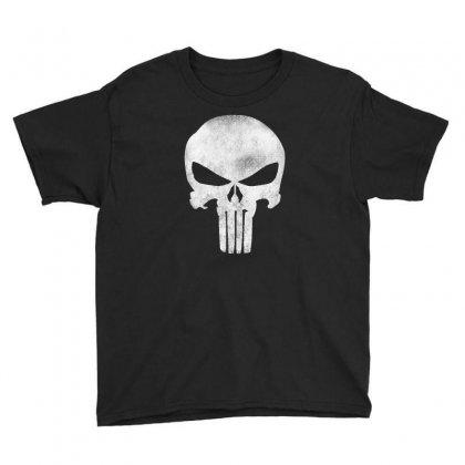 Punisher Skull Vintage Youth Tee Designed By Dejavu77