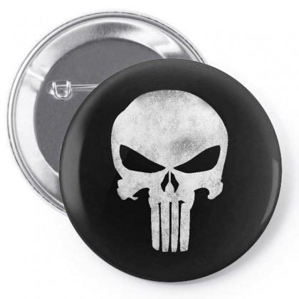 Punisher Skull Vintage Pin-back Button Designed By Dejavu77