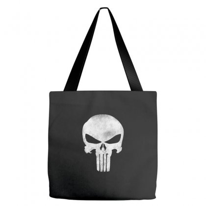 Punisher Skull Vintage Tote Bags Designed By Dejavu77
