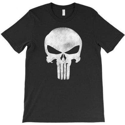 Punisher Skull Vintage T-shirt Designed By Dejavu77