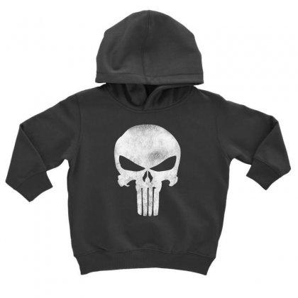 Punisher Skull Vintage Toddler Hoodie Designed By Dejavu77