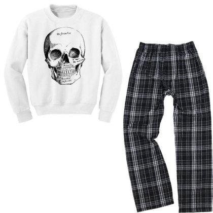 Skull Youth Sweatshirt Pajama Set Designed By Estore