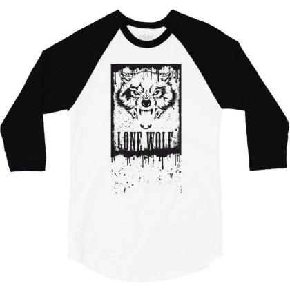 Lone Wolf 3/4 Sleeve Shirt Designed By Estore