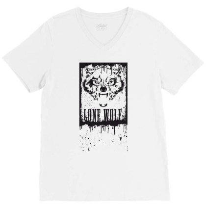 Lone Wolf V-neck Tee Designed By Estore