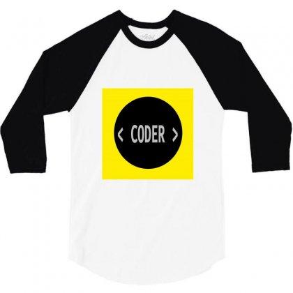 Coder 3/4 Sleeve Shirt Designed By Akkitech_s