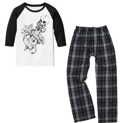 Skull Youth 3/4 Sleeve Pajama Set Designed By Estore