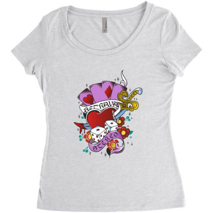 Heart Women's Triblend Scoop T-shirt Designed By Estore