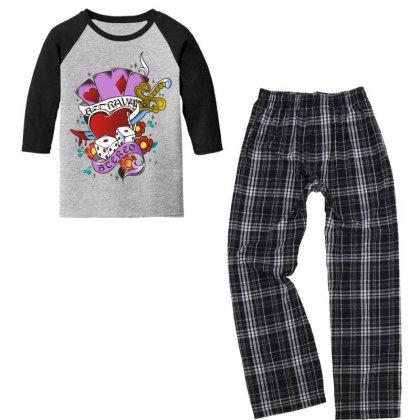 Heart Youth 3/4 Sleeve Pajama Set Designed By Estore