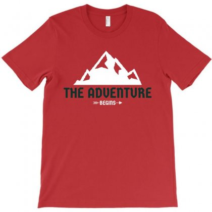 The Adventure Begins T-shirt Designed By Otak Atik