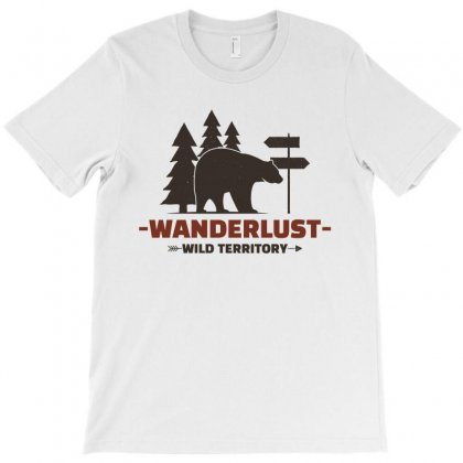 Wanderlust Wild Territory T-shirt Designed By Noir Est Conception